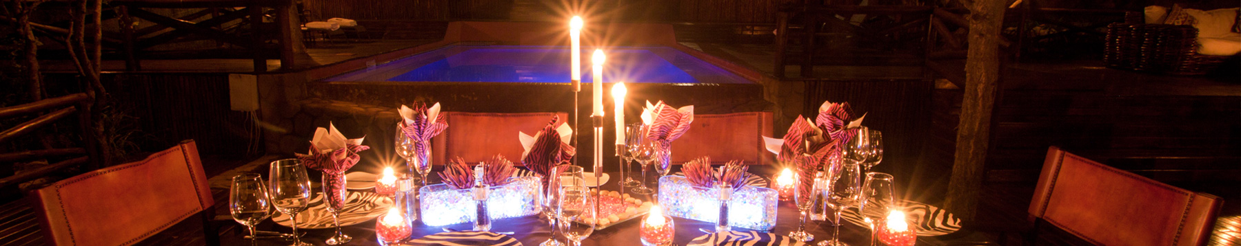 Table at Naledi at night