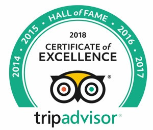 Trip Advisor Certificate of Excellence Winner for Luxury Accommodation and Wildlife Safari
